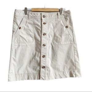 Tommy Hilfiger Beige Button Front Skirt Size 8